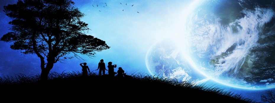 Site Map Header, Overview Page Header, Kids and the Universe Image, One Community